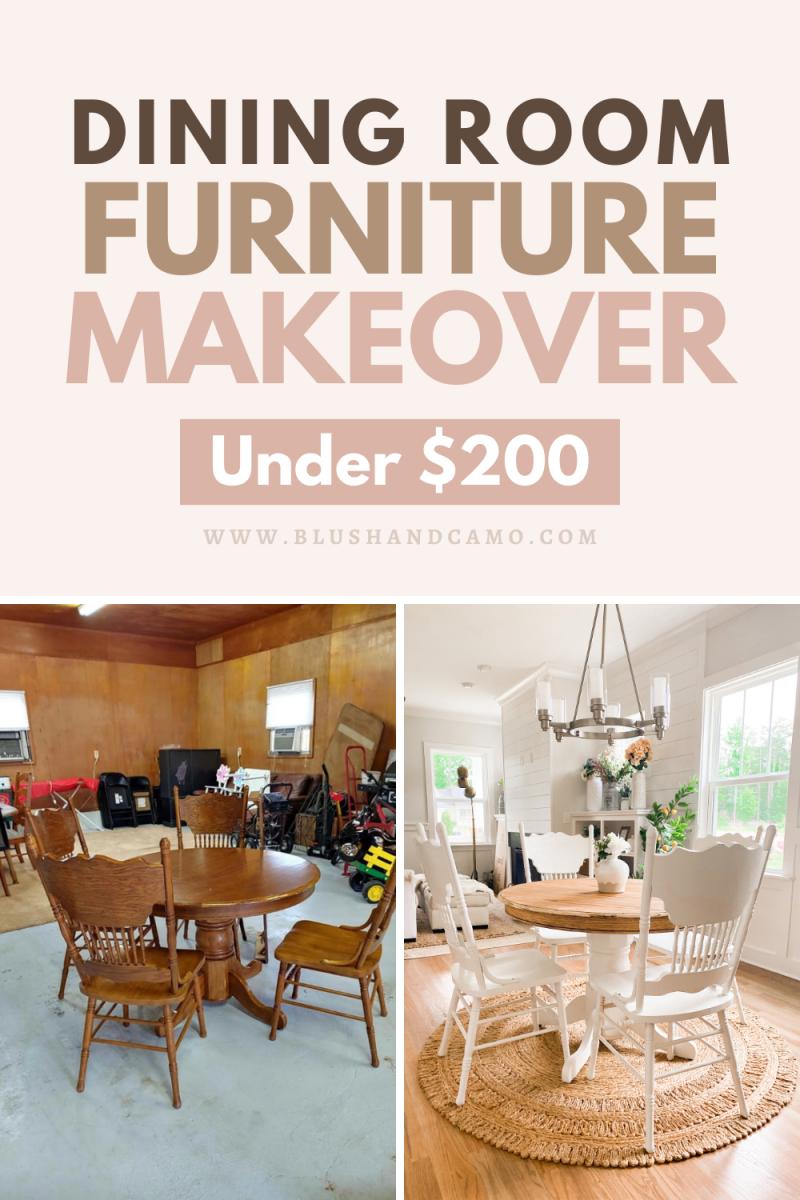 Dining Room Furniture Makeover Under $200