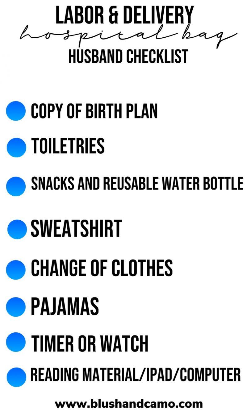 Labor & Delivery Hospital Bag Checklist
